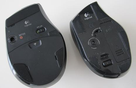 M705rとVX-Rの底面を比較